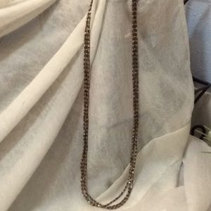*SALE* SILVER BROWN AND GOLD 3 STRAND NECKLACE